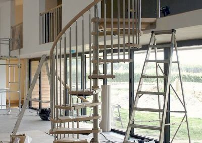 Stainless Steel & Timber Spiral Staircase 1