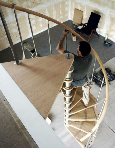 Stainless Steel & Timber Spiral Staircase 2
