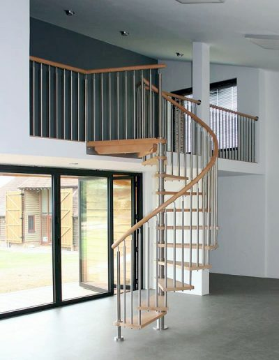 Stainless Steel & Timber Spiral Staircase 3