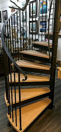 traditional spiral staircase