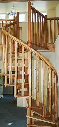 warwickshire wooden spiral staircase