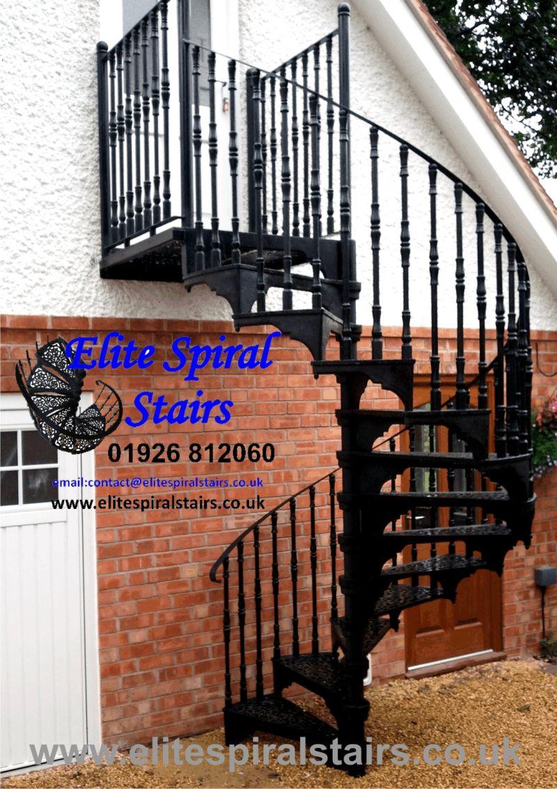 Merveilleux Elite External Spiral Staircase