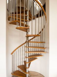 Timber Tread Spiral Staircase