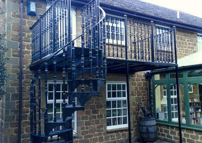 Victorian Balcony with Spiral Staircase