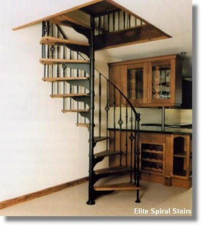Rhonde Wrought Iron & Timber Spiral Staircase