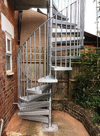 Fire escape Galvanised Steel External
