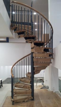 Grandborough Spiral Staircase Timber Handrail Installation