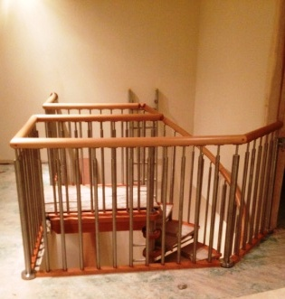 Modern Stainless Steel Timber Handrail Installation 1