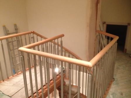 Modern Stainless Steel Timber Handrail Installation 2