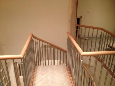 Modern Stainless Steel Timber Handrail Installation 3
