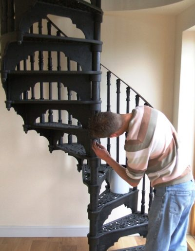 1830 victorian staircase install compressed
