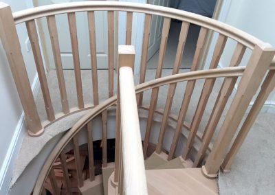 Warwickshire hardwood stair landing2
