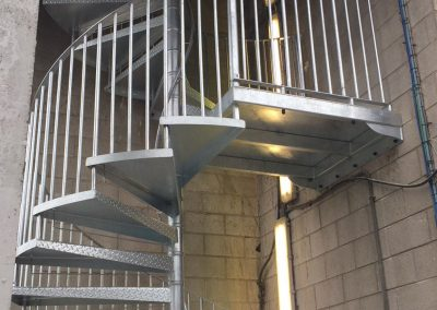 Double flight Galvanised Fire escape2