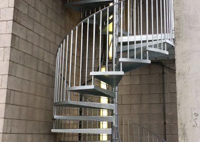 Double flight Galvanised Fire escape3