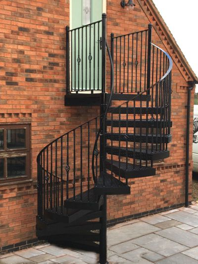 Steel Fire Escape Spiral Staircases