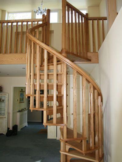 Warwickshire Timber Spiral Staircase